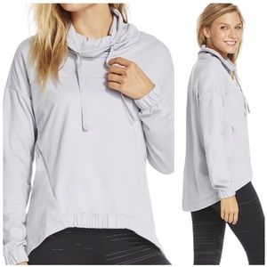 Fabletics Gray Athletic Europa Hoodie